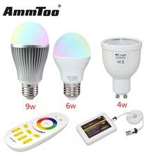 Dimmable Milight Led Lamp GU10 E27 4W 6W 9W Led Light Bulb Mi Light Lampada Led RGBW RGBWW / Four Zone Remote / Wifi Controller