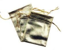 50 unids 11*16 cm bolso de lazo bolsas de mujer de la vendimia de oro para La Boda/Fiesta/de La Joyería/de la Navidad/bolsa de Envasado Bolsa de regalo hecho a mano diy
