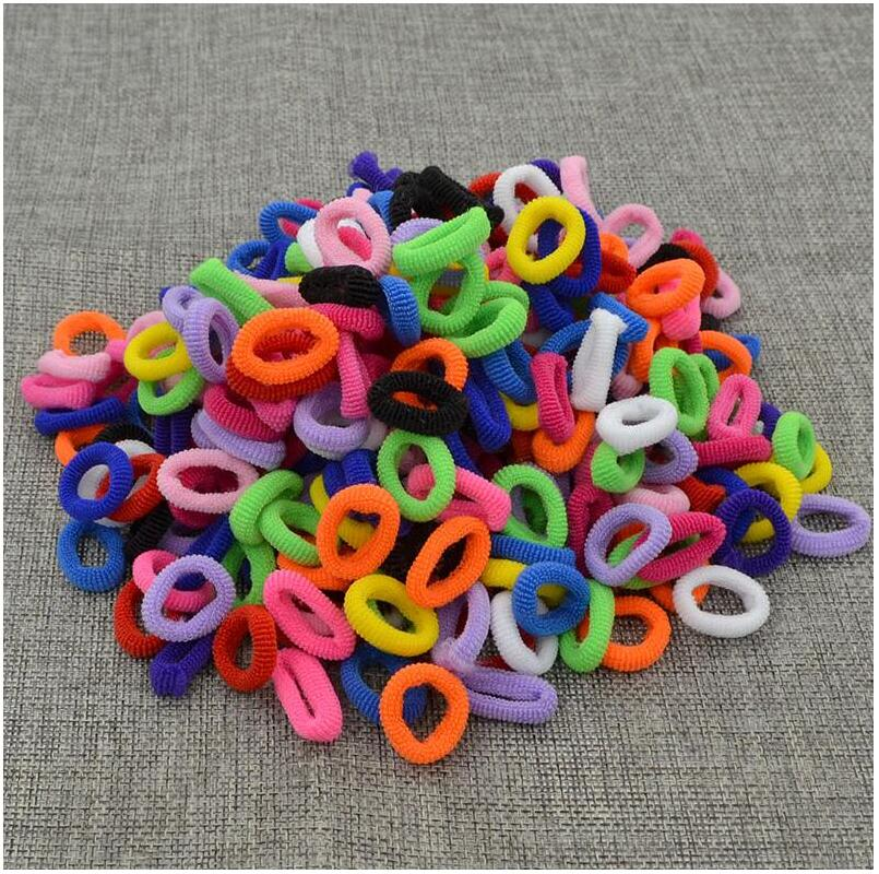 200 Pcs/Lot Sale Rubber Bands Gum For Girls Black White Small Hair Bands Colorful Kids Hair Holders Elastic Hair Accessories