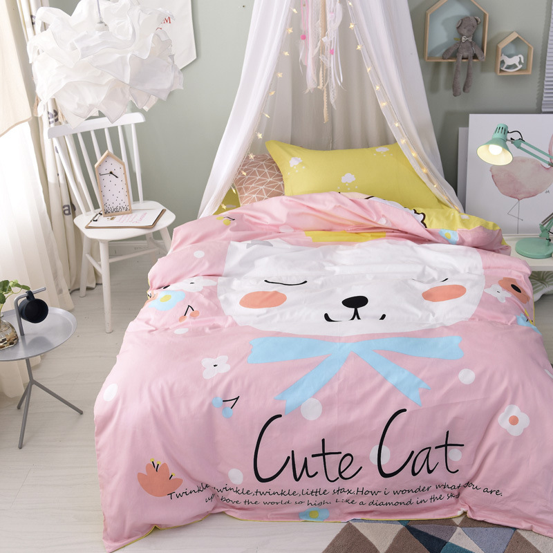 2018 kids bedding set single pillowcase anime cotton bedclothes reactive printing duvet cover bed cover bed sheet drap de lit