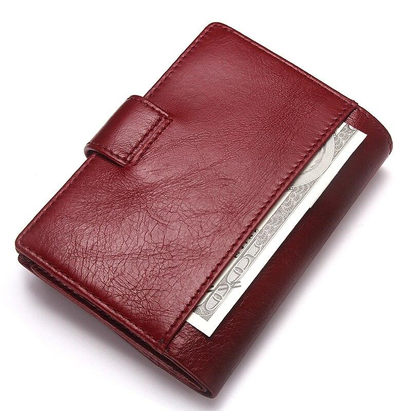 Image 2 - Contacts 本革の女性のパスポートホルダー女性財布トラベル男性 portomonee ショート walet カードホルダーパスポートカバー財布   -