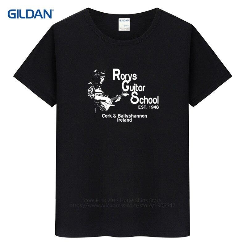 Create Custom T Shirts  Comfort Soft  Gallagher Guitar Hero Rock  Crew Neck Short Sleeve Mens Shirt