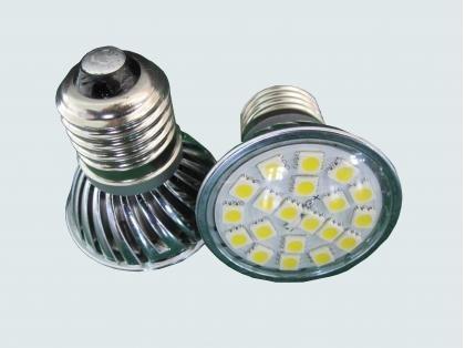 SMD LED Spot light;E27 base;18pcs 5050 led;180lm;2800K-33000K,warm white