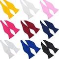 Розничные Оптовые Горячие Модные Мужские Bowties Сплошной Цвет Равнина Шелка Самостоятельная Галстук Галстуки Нескольких Цветов