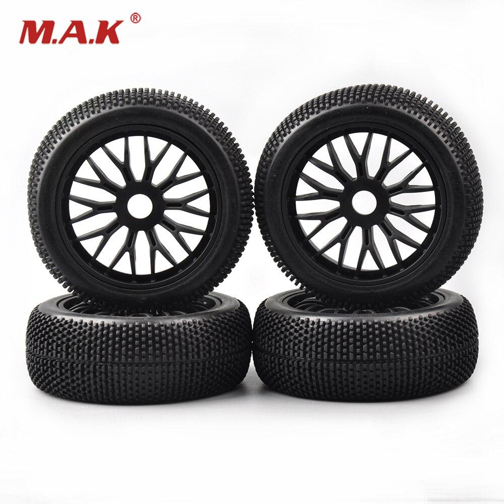 где купить 4pcs/set Rc Car Tires 1/8 Buggy Tires Wheel Rim set for RC 1:10 Off-Road Racing Car Accessories по лучшей цене