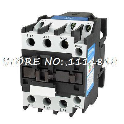 220V Coil Motor Controler AC Contactor 3 Pole NO N/O 660V 15KW CJX2-3210 new lp2k series contactor lp2k06015 lp2k06015md lp2 k06015md 220v dc