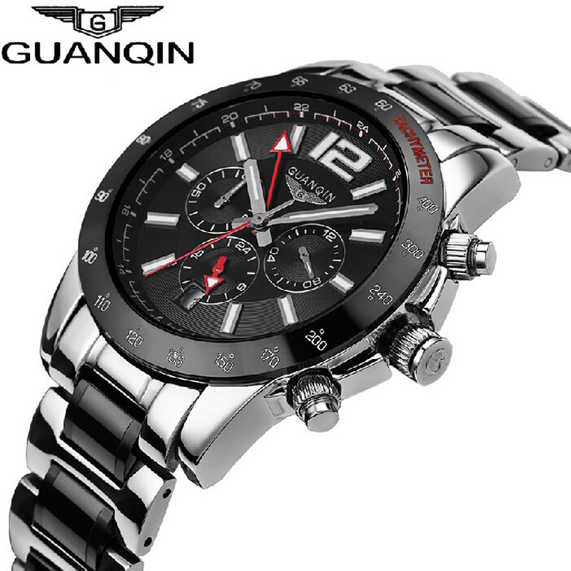 Watches Men Luxury Brand GUANQIN Casual Military Watch Automatic Mechanical Luminous Waterproof Sports Large Dial Wristwatches