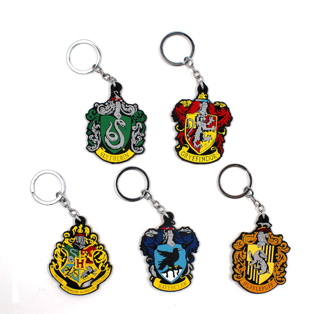 Other Fashion Jewelry Harry Potter Magic Academy Hogwarts Badge Vintage Colour Shield Golden Keychain Jewelry & Watches