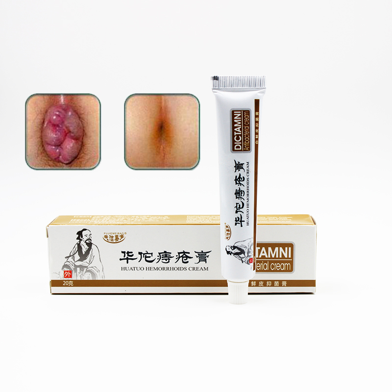 1pc Huatuo Hemorrhoids Ointment Chinese Cream Powerful Internal Hemorrhoids Piles External Anal Fissure Medical Plaster Patch