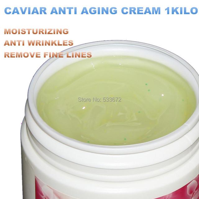 Caviar Crema antiarrugas 1000g Líneas de Arrugas Hidratante Para Blanquear Productos de Cuidado de la Piel Equipo de Hospital 1 Kilo