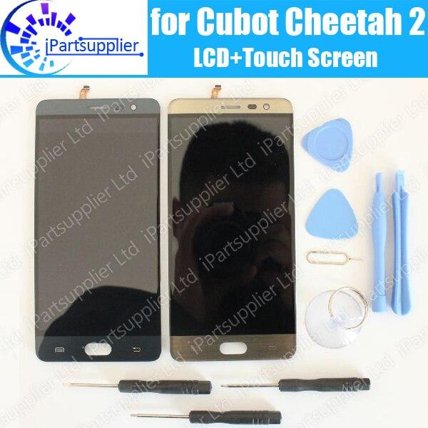 Cubot Guépard 2 Écran lcd + Écran Tactile 100% D'origine LCD Digitizer Verre de Remplacement Du Panneau Pour Cubot Guépard 2 + outils + adhésif