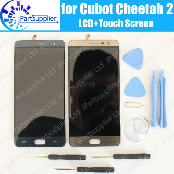 Cubot Cheetah 2 LCD Display+Touch Screen 100% Original LCD Digitizer Glass Panel Replacement For Cubot Cheetah 2+tools+adhesiveCubot Cheetah 2 LCD Display+Touch Screen 100% Original LCD Digitizer Glass Panel Replacement For Cubot Cheetah 2+tools+adhesive
