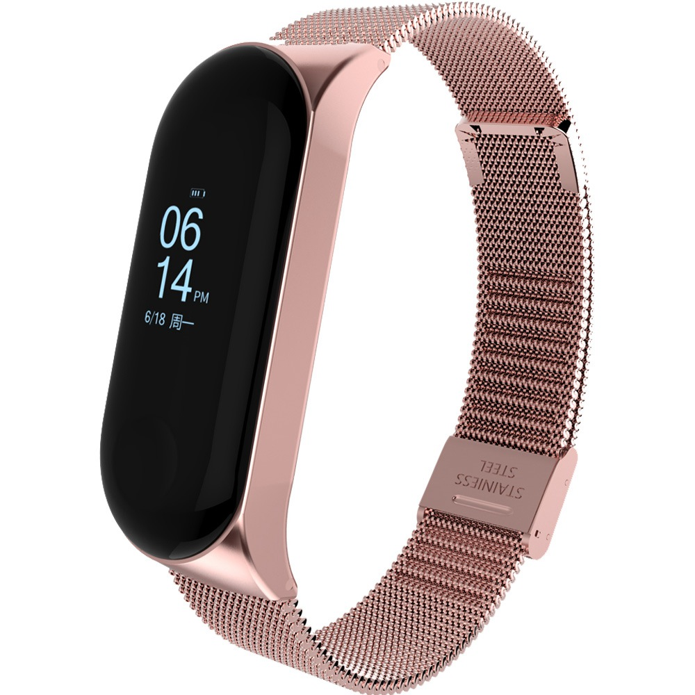 Metal Strap For Xiaomi Miband 3 Smart Bracelet Mi band 4 Watch Stainless Steel Band For Xiaomi Mi Band 4 With Buckle Smart Band in Smart Accessories from Consumer Electronics