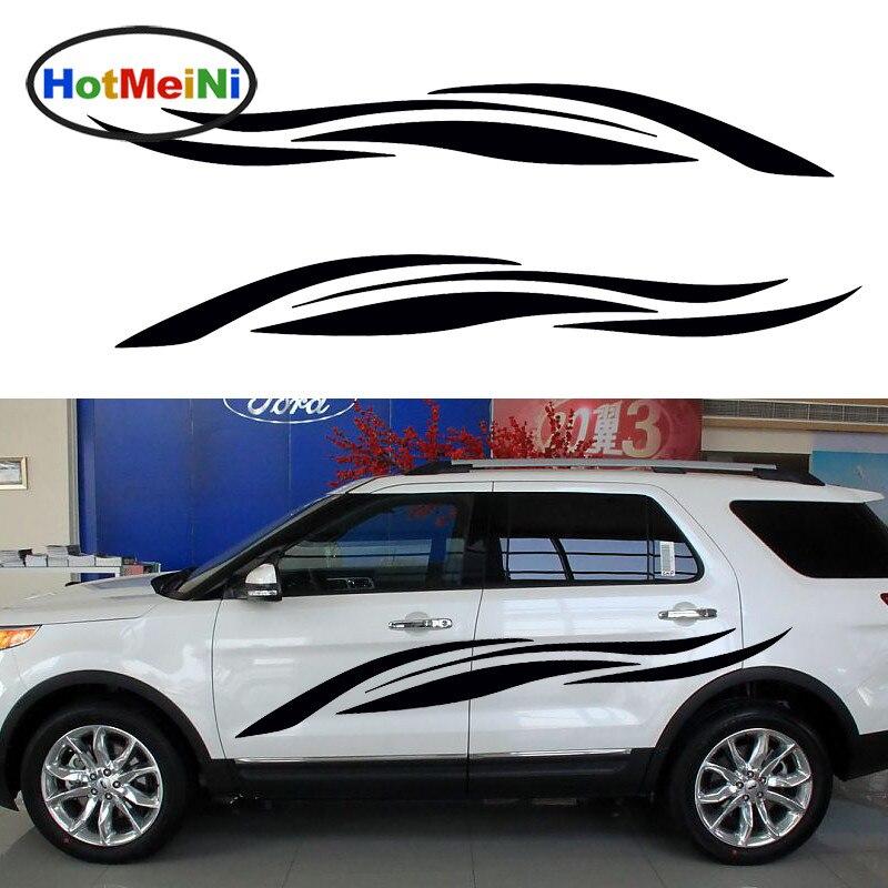 HotMeiNi 2 X liberté fluttré ruban rayé Art abstrait voiture carrosserie autocollant mode rayure accessoires porte JDM décalque 200*28 cm