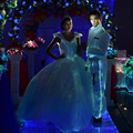 luminous evening party dress A line big gown wedding bridal lace up led dress fiber optical fabric light up dress fashion