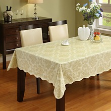 Table Cloth Flannel Backed Vinyl Tablecloth Waterproof Dining Cover For Kitchen Home Decor