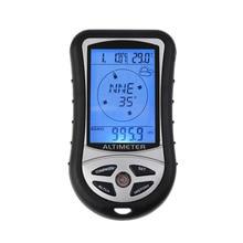 8 в 1 цифровой ЖК-компас альтиметр барометр Термо Температура часы календарь для наружного туризма рыбалки