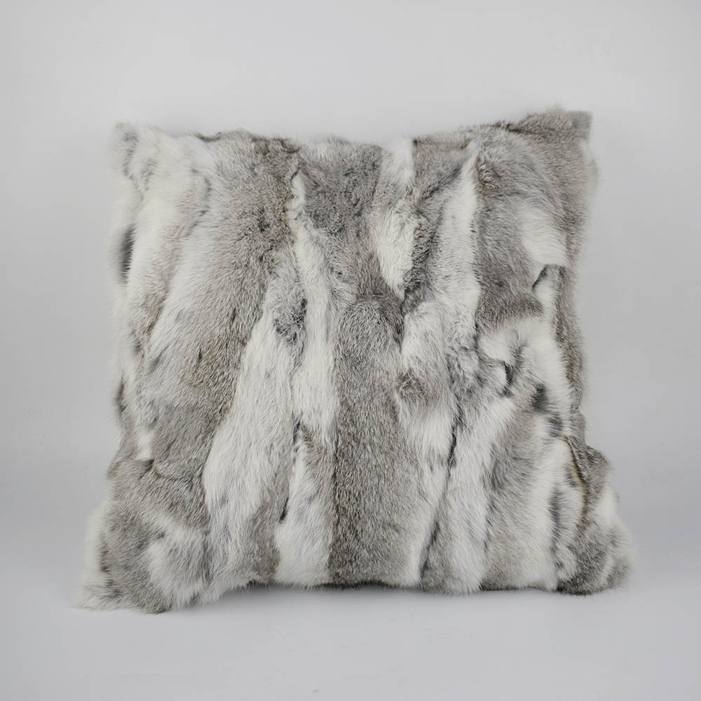 rex rabbit fur pillow 14