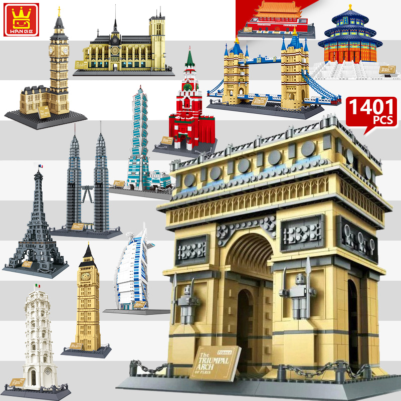 2018 World Great City Architecture Model legoing Building Blocks City Creative Sets MOC Bricks Educational Kids Toy Gift 407pcs sets city police station building blocks bricks educational boys diy toys birthday brinquedos christmas gift toy