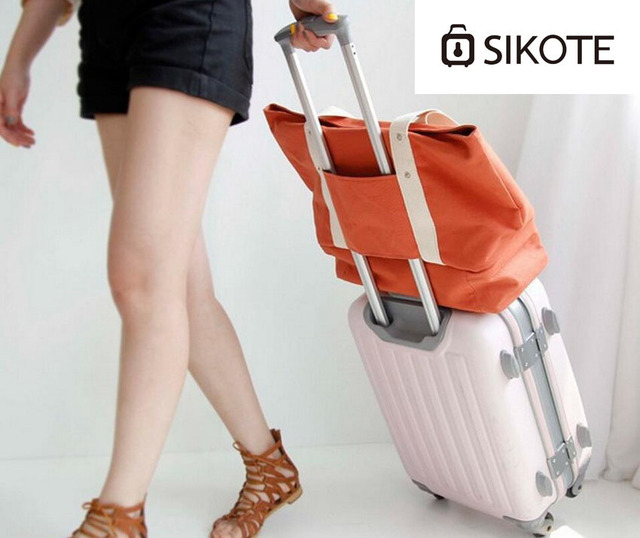 SIKOTE Multifunctional canvas travel shoulder bag. Ladies large capacity rods shoulder bag, shoe bag.