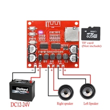 XH A233 15 W X 2 Bluetooth 4.2 Digitale versterker boord Stereo TF Card Play 12 v ~ 24 v audio Amp