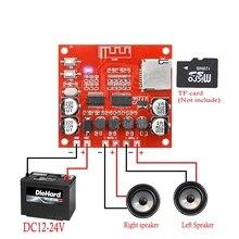 XH A233 placa amplificadora de potencia, 15W X 2, Bluetooth 4,2, tarjeta TF estéreo, reproducción de 12v ~ 24v, amplificador de Audio