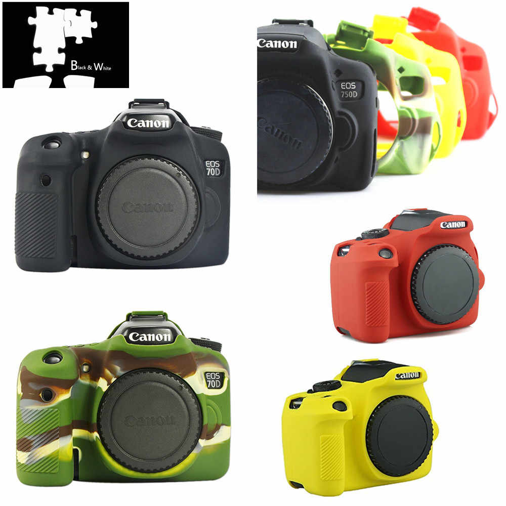 Silicone Camera Case for Canon EOS R 1300D T6 M50 5D II III IV 5D2 5D3 5D4 4000D T100 800D t7i 6D II 6D2 70D 80D 200D SL2 750D