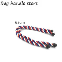 1 Pair New Mixed Color Hemp Rope For Obag Bag
