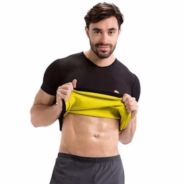 Waist Trainer Belt Men Body Shapers T-shirt Neoprene Control Sweat Sauna Fitness Slimming Short Sleeve Corsets Stretch Shapewear 1