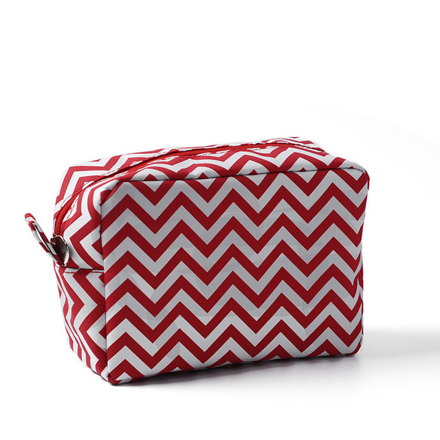 0d40aa644f46 Wholesale Blanks Chevron Makeup Bag Navy Strip Toiletry Bag 11 Colors Cosmetic  Bag free shipping Wedding Gift Bag DOMIL106001