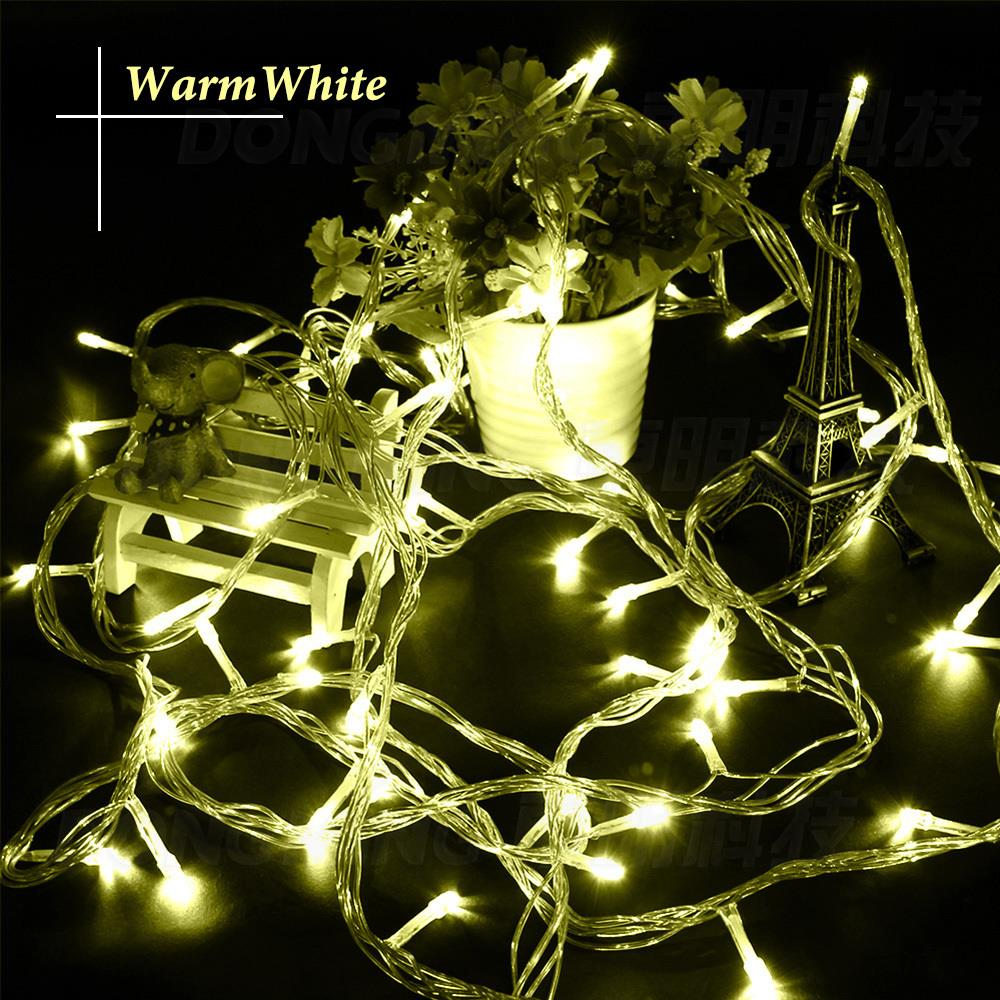 wholesale 10m 100 led string light christmas lights new year light wedding decorative lamp with end plug christmas light strings in led string from lights