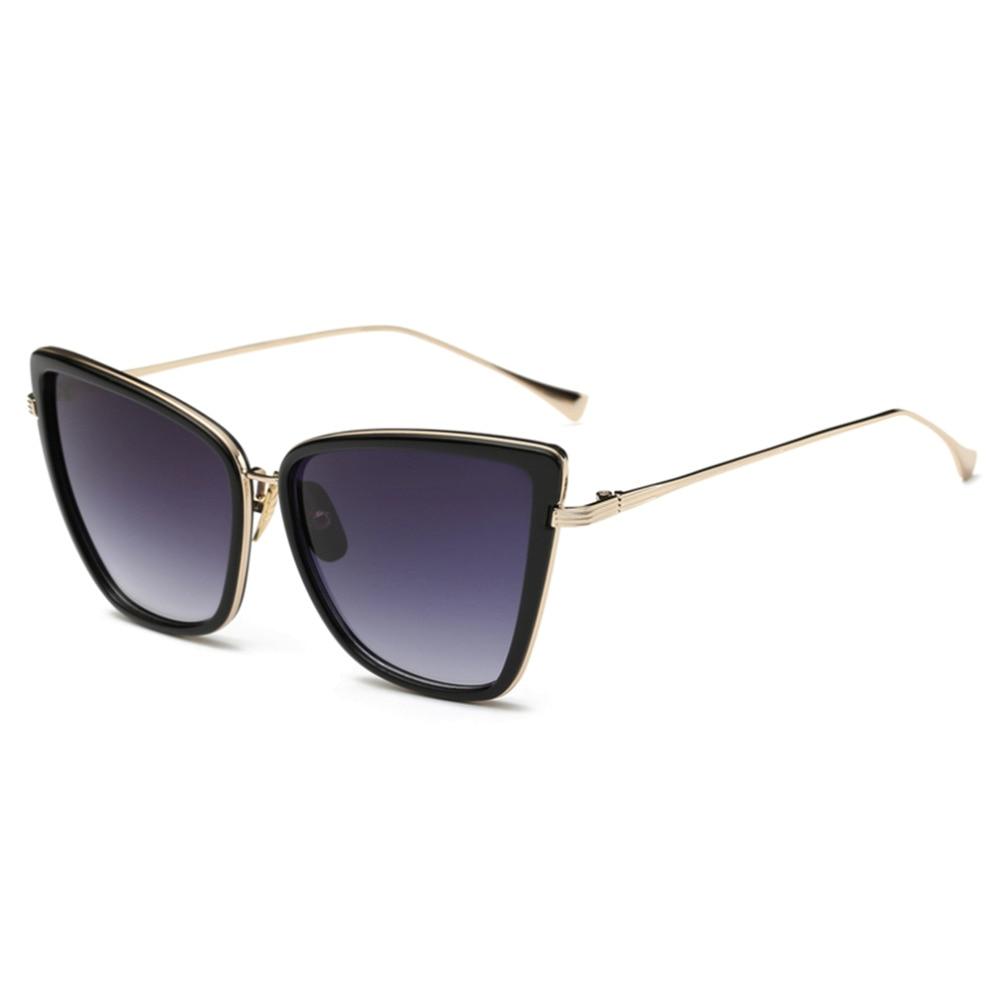 Модные женские туфли солнцезащитные очки Кот зеркало очки металлический кошачий глаз солнцезащитные очки Для женщин Брендовая Дизайнерск...