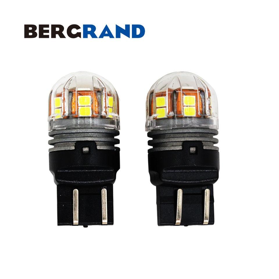 2 stücke T20 7443 580 W21/5 watt Led-lampe Weiß Blinker Tagfahrlicht 15LED chips DC10-32V für Lada Kalina Granta Operal