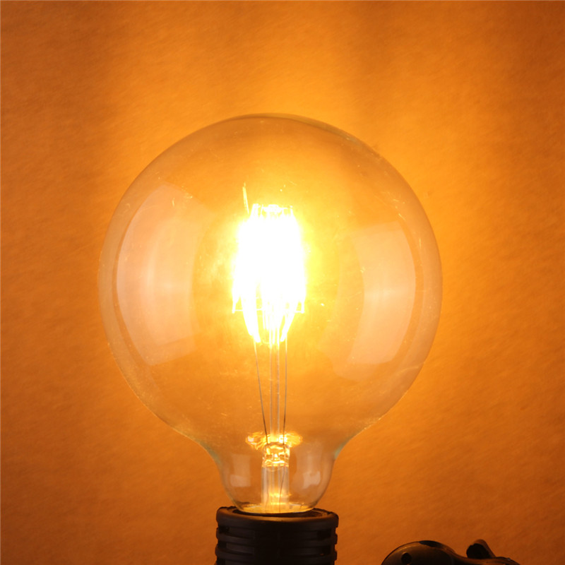 COB Chip LED Light Vintage Edison Bulb E27 G125 4W 6W 8W Filament Lamp LED Globe Light Bulb Warm White Lighting AC220V high brightness 1pcs led edison bulb indoor led light clear glass ac220 230v e27 2w 4w 6w 8w led filament bulb white warm white