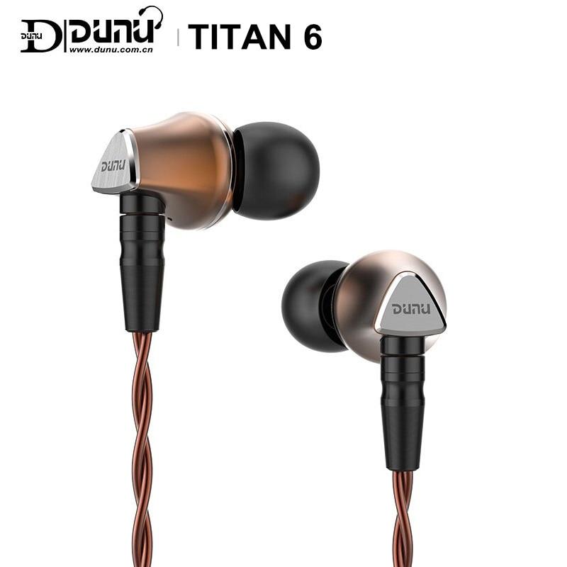 DUNU TITAN 6 T6 Hi Res 12.6mm Beryllium Diaphragm Dynamic Driver HiFi Audio In ear Earphone IEM catch hold mmcx connctor Titan6Earphones   -