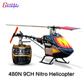 Águia mundial 480N18-DFC450L 9 canal MINI gás combustível RC Helicopter RTF / RTG aeronaves 3D dublê Gasolin Nitro RC helicóptero