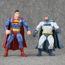 Superheros Superman & Batman Dawn of Justice doll PVC action figure collection gifts for Kids Gift(China)