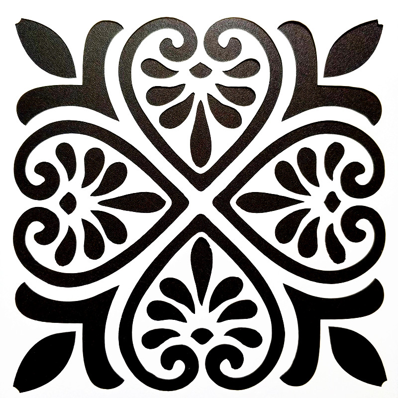 DIY Painting 15*15cm Vintage Pattern Stencil Template For Tile Furniture Floor Fabric Painting Decorative