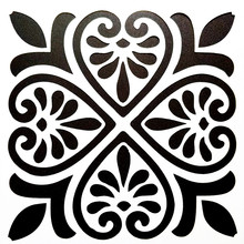 DIY Painting 15*15cm Vintage Pattern Stencil Template For Tile Furniture Floor Fabric Decorative