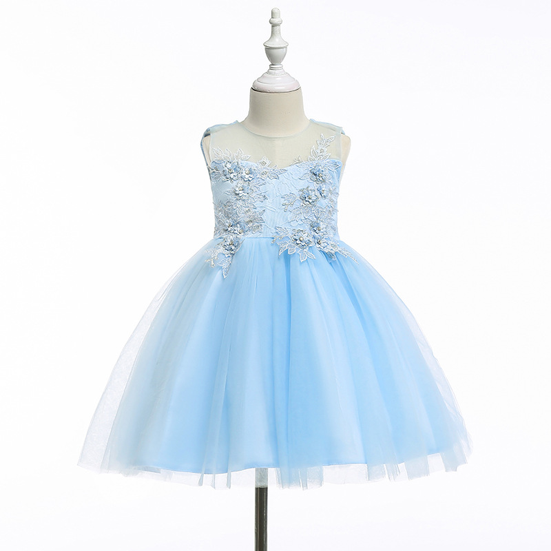 Flower Girls Dress Pageant Formal Party Dress Little Baby Girl Birthday Princess Dress Carnival Costume Kids Wedding Clothes