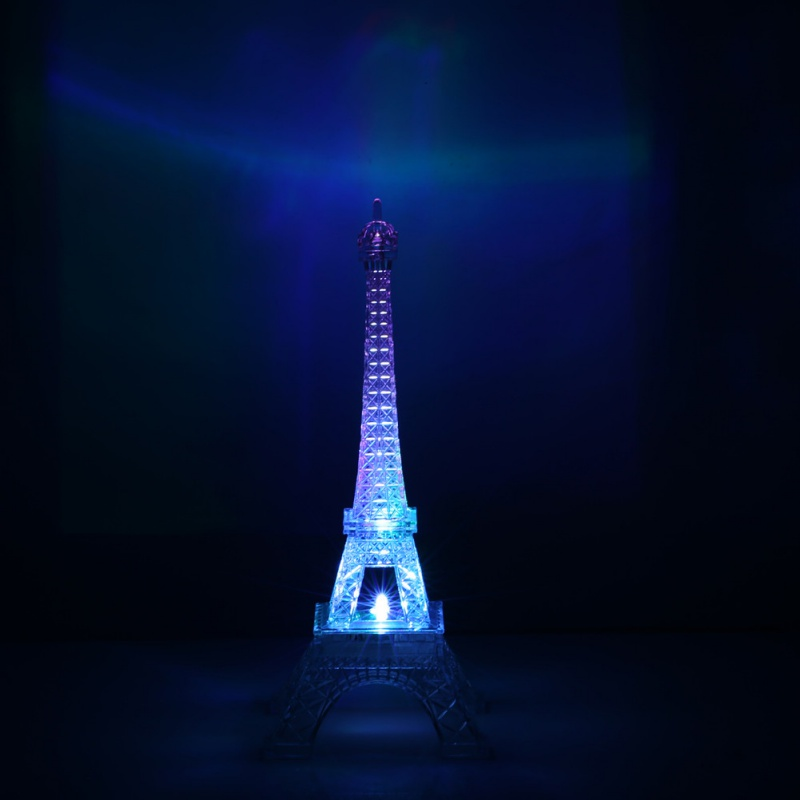3D LED Night Light The Eiffel Tower 3D Illusion Night Lamp Color Changing Table Desk Lamps 2018