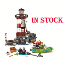Scooby Doo Series Haunted Lighthouse The Mystery Machine Building Blocks Compatible Legoings 10431 10430 Brick Toys for Children