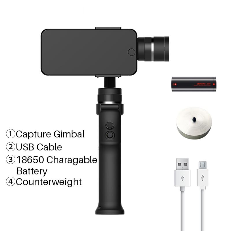 NIEUWE Funsnap Capture 2 3 Axis Handheld Gimbal Stabilizer Voor Smartphone GoPro SJcam XiaoYi Camera VS DJI OSMO 2 ZHIYUN FEIYUTECH - 5