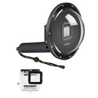SHOOT Dome Port for GoPro Hero 6/Hero 5/Hero(2018) Black Camera Underwater Diving Transparent Lens Housing Dome Waterproof case