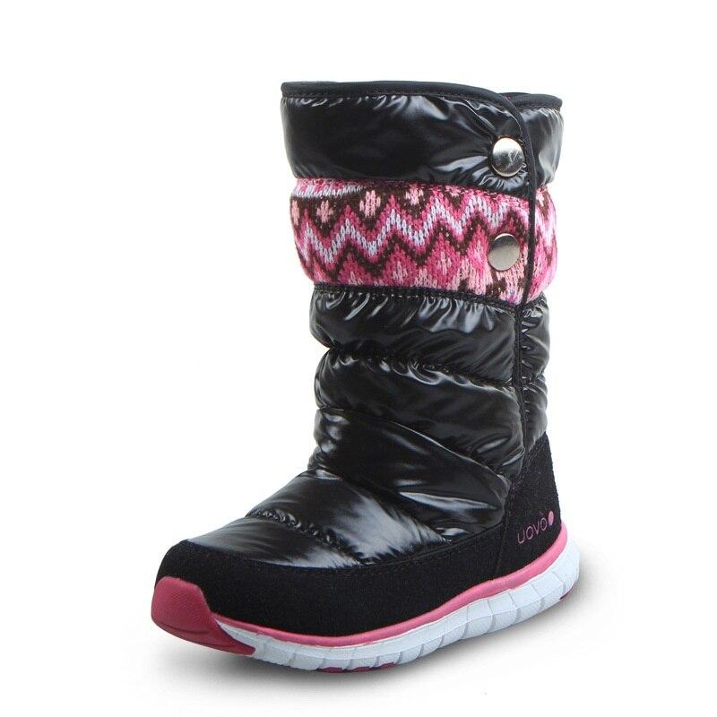 Bottes enfants bout rond bottes de neige enfants chaussures filles hiver bottes plates en peluche chaussures de mode garçons chaussures confortables AA11136