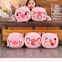 30 см розовый милый пять видов выражений поросенок плюшевые Handwarm мягкие Мультяшные игрушечные Животные Кукла диван подушка на стул подушки подарки