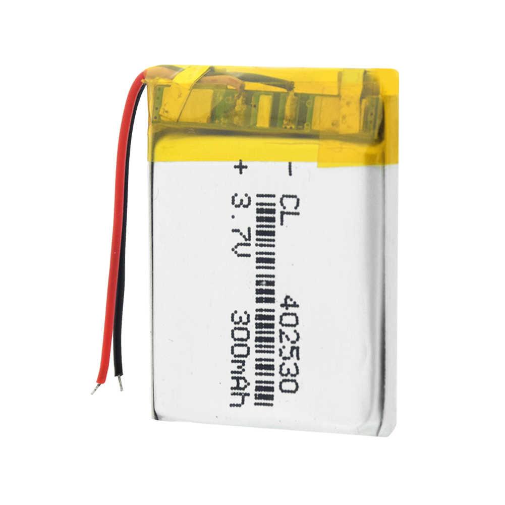 1/2/4 חתיכות 300mAh נטענת ליתיום יון 3.7 V 402530 Li-פולימר סוללות חשמלי צעצוע LED אור אוזניות Bateria
