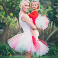 Family Fitted Matching Mother Daughter Kids Baby Girl Tutu Skirt Fluffy Pettiskirts Dance Tulle Skirt Party Tutus Petticoat
