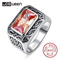 Antique 11.28g 6.75ct Morganite Jewelry Rings 100% 925 Silver Unisex Ring For Women Men or Couple Size 6 7 8 9 10 11 Gift Packed