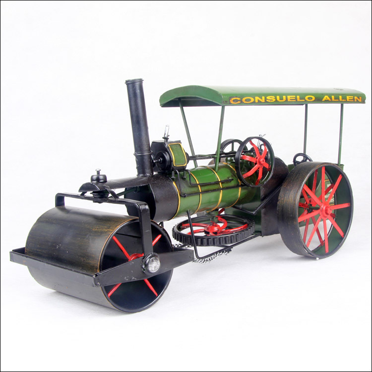 ФОТО 1pcs 17.7inch hand made metal Road Roller metal model figure toy for deck